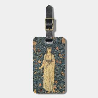 Antique William Morris Flora Custom Bag Tag