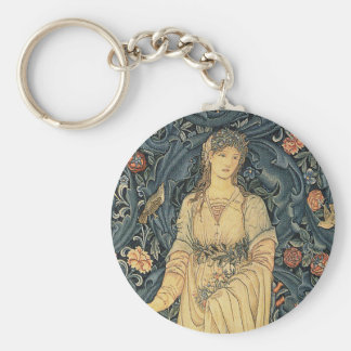 Antique William Morris Flora Key Ring