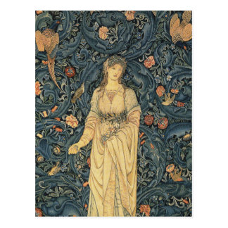 Antique William Morris Flora Postcard