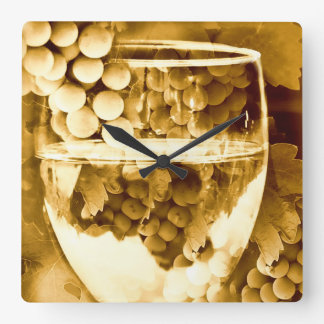 Antique Wine Art Gifts Square Wall Clock