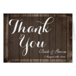 Antique Wood Personalised Wedding Thank You Cards