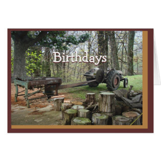 antique wood shingle maker- customize any occasion card
