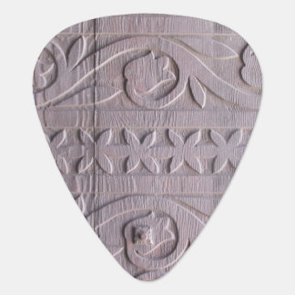 Antique Woodcarving Photo Guitar Pick