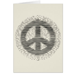 Antique Woodcut Peace Greeting Card