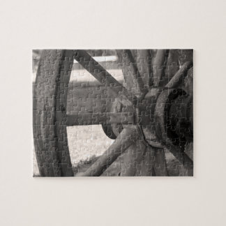 Antique Wooden Wagon Wheel Jigsaw Puzzle