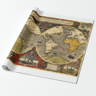 Antique World Map #2 Wrapping Paper