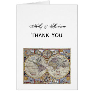 Antique World Map #3 Card