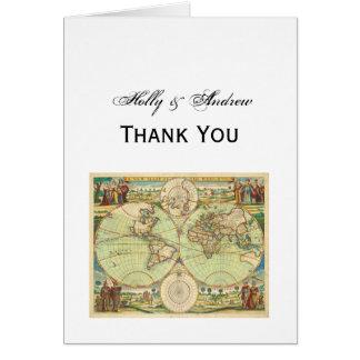Antique World Map #4 Card