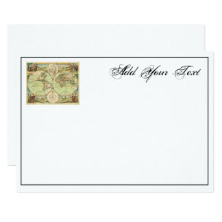 Antique World Map #4 Card