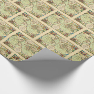 Antique World Map #4 Wrapping Paper
