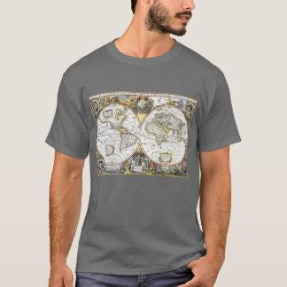 Antique World Map by Hendrik Hondius, 1630 T-Shirt
