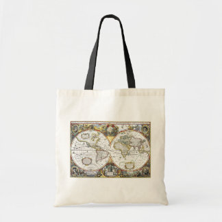 Antique World Map by Hendrik Hondius, 1630 Tote Bag
