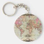 Antique World Map by John Colton, circa 1854