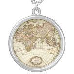 Antique World Map, c. 1680. By Frederick de Wit Custom Necklace