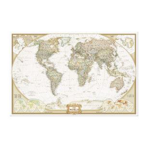 World map wrapped canvas prints zazzle antique world map canvas wrap print gumiabroncs Gallery