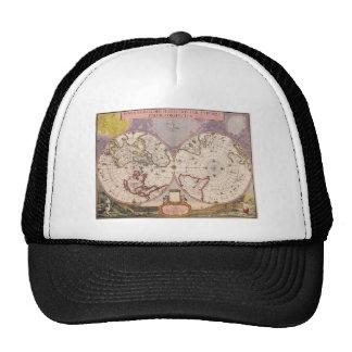 Antique World Map Cap