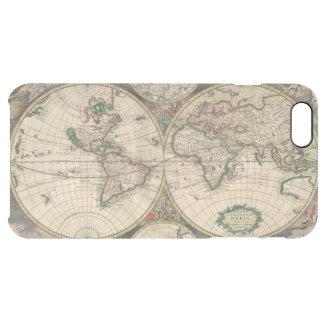 Antique World Map Clear iPhone 6 Plus Case