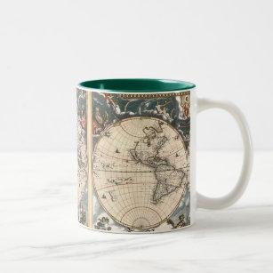 World map antique coffee travel mugs zazzle antique world map coffee mug gumiabroncs Image collections