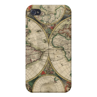 Antique World Map iPhone4 Skin iPhone 4/4S Covers