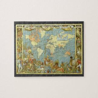 Antique World Map of the British Empire, 1886 Puzzles