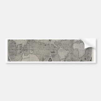Antique World Map - Old maps of Asia Bumper Sticker