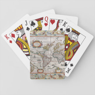 Antique World Map playing cards