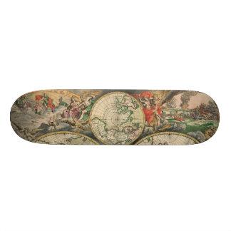 Antique World Map Skateboard