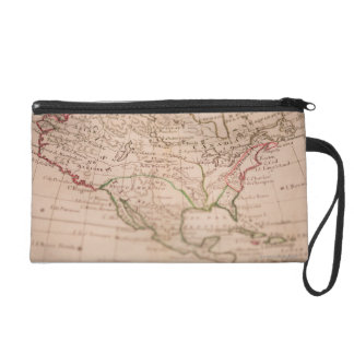 Antique World Map Wristlet Clutch
