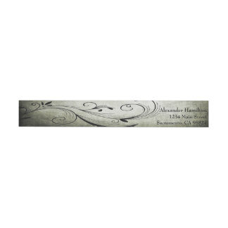 Antique: Wrap Around Address Labels Wraparound Address Label