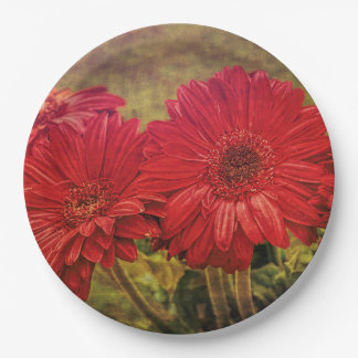 Antiqued Garden Paper Plate