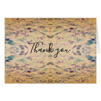Antiqued Leaves Thank you Notes