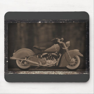 Antiqued Motorcycle Photo Card Mouse Pad