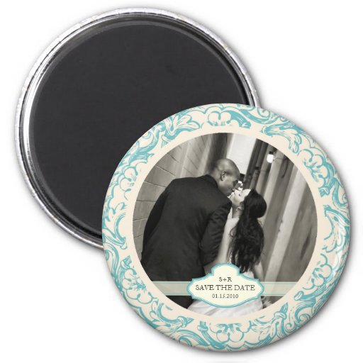 ANTIQUED SAVE THE DATE MAGNET