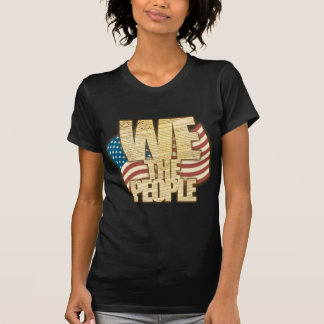 Antiqued WE THE PEOPLE with American Flag T-Shirt