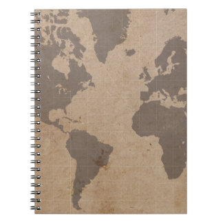 Antiqued World Map Notebook