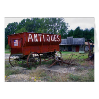 Antiques - God Bless America Card