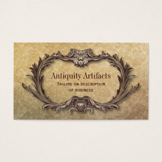 Antiquity Parchment Damask Business Card