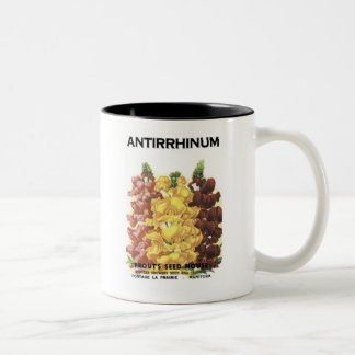 Antirrhinum, Prout's Seed House Two-Tone Mug