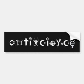 ANTISCIENCE (black) Bumper Sticker