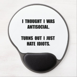 Antisocial Idiots Gel Mouse Pad