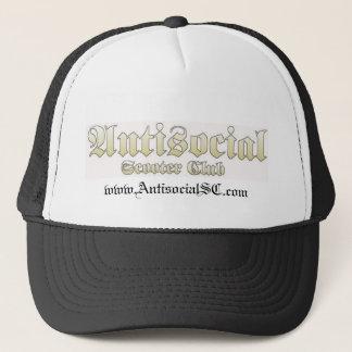 Antisocial Skull Trucker Hat