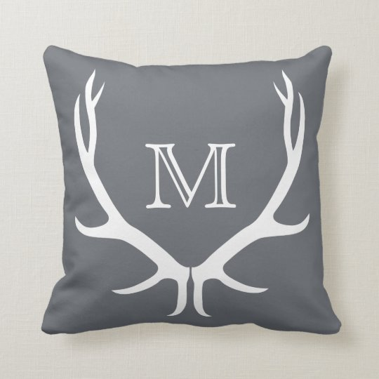 Antler Monogram Pillow