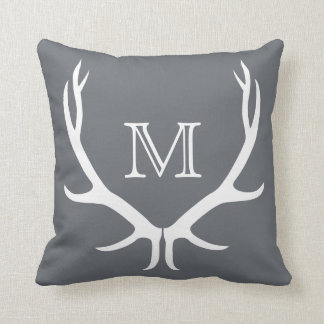 Antler Monogram Pillow