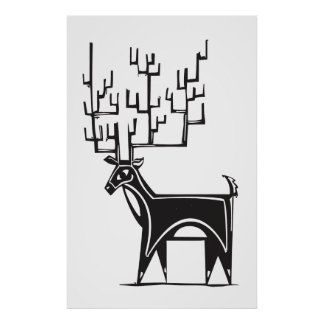 Reindeer Antlers Posters   Zazzle.com.au
