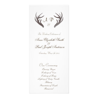 Antlers Wedding Program Rack Card