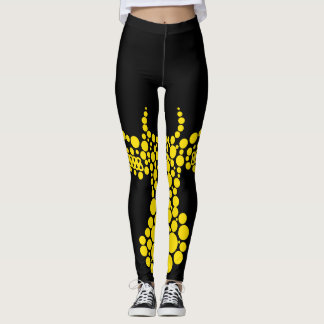 Antlers Yellow Leggings