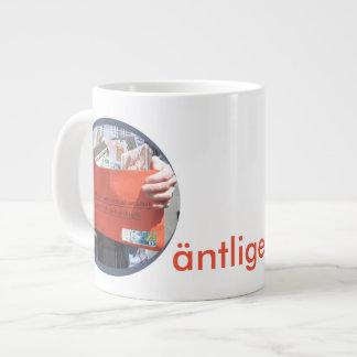 Äntligen pensionär! large coffee mug