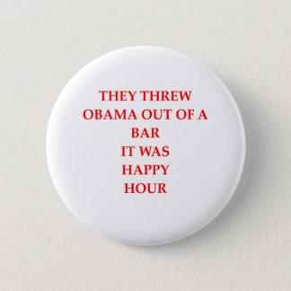 anto obama joke 6 cm round badge