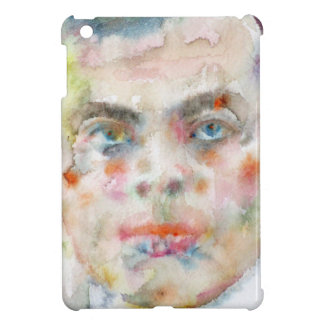 antoine de saint exupery - watercolor portrait iPad mini cover