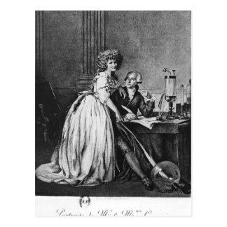 Antoine Laurent Lavoisier  and his wife Postcard